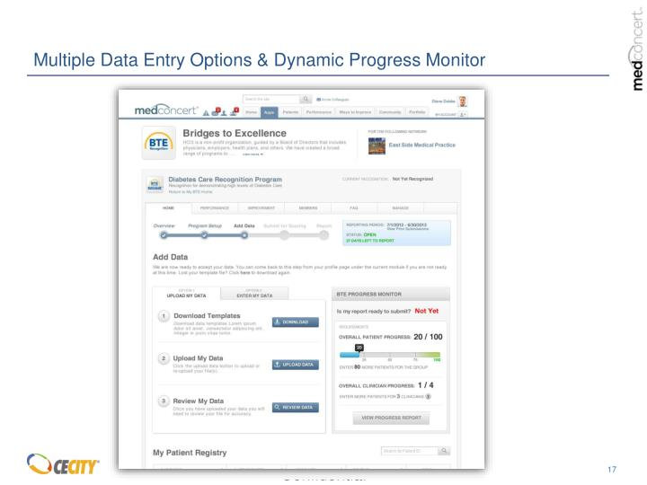 Multiple Data Entry Options & Dynamic Progress Monitor