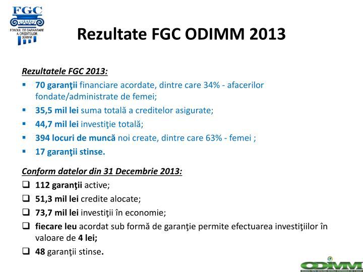 Rezultate FGC ODIMM