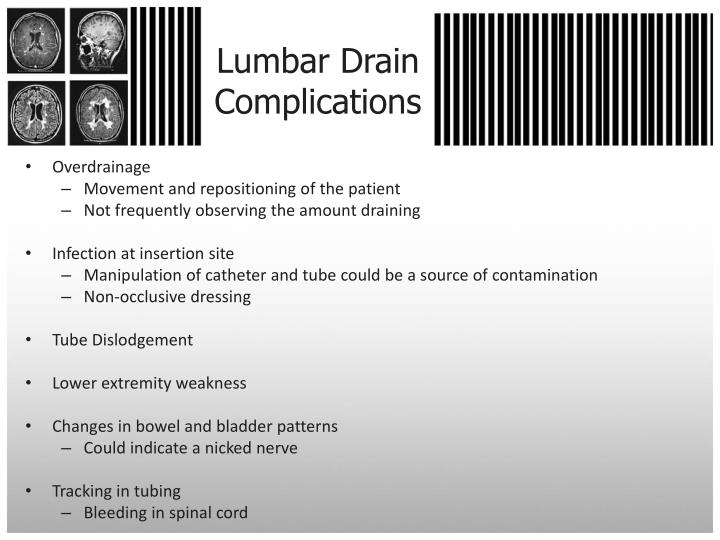 Ppt Care Of The Patient With An Evd Or Lumbar Drain