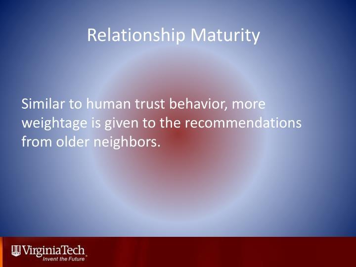 Relationship Maturity