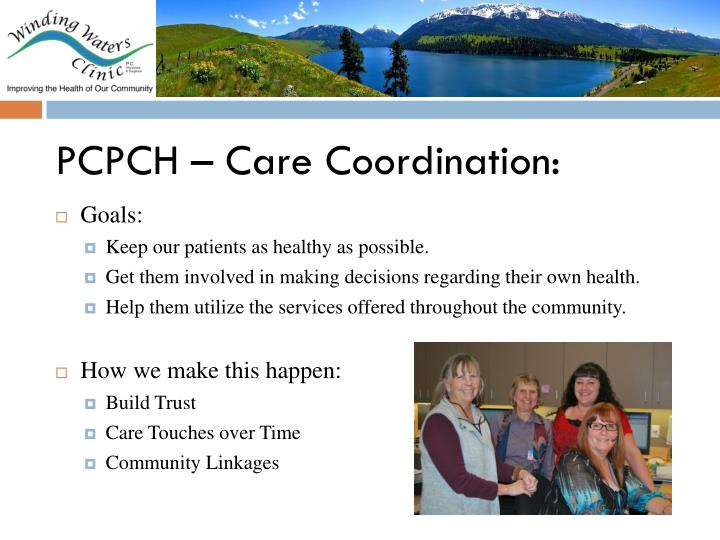 PCPCH – Care Coordination: