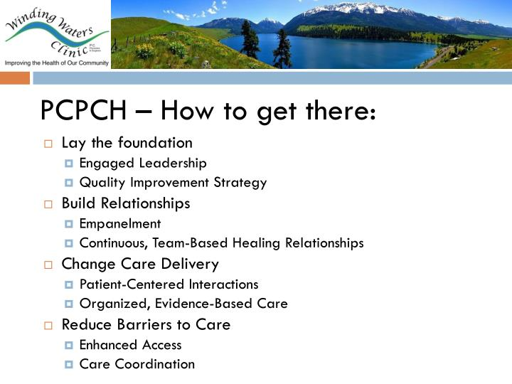 PCPCH – How to get there: