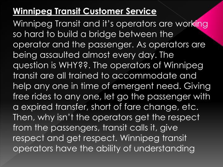 Winnipeg Transit Customer Service