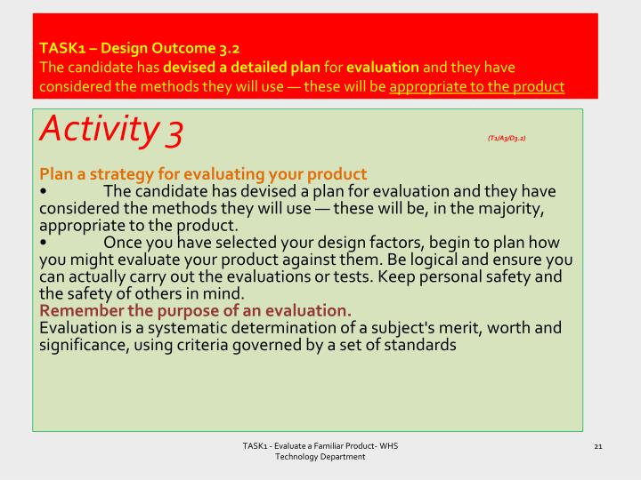TASK1 – Design Outcome 3.2