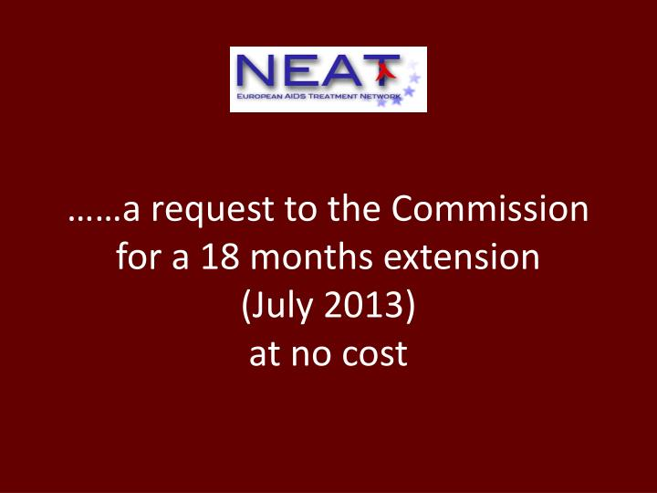 ……a request to the Commission