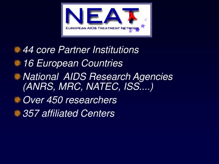 44 core Partner Institutions