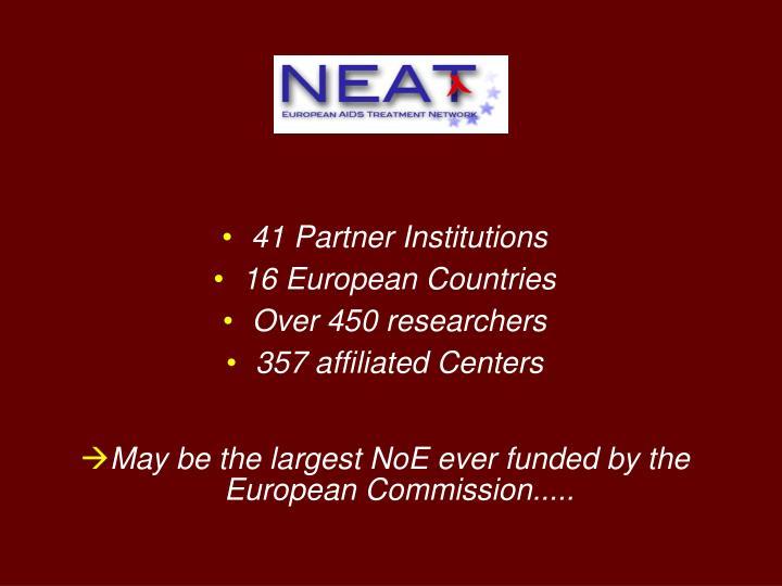 41 Partner Institutions