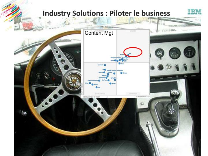 Industry solutions piloter le business