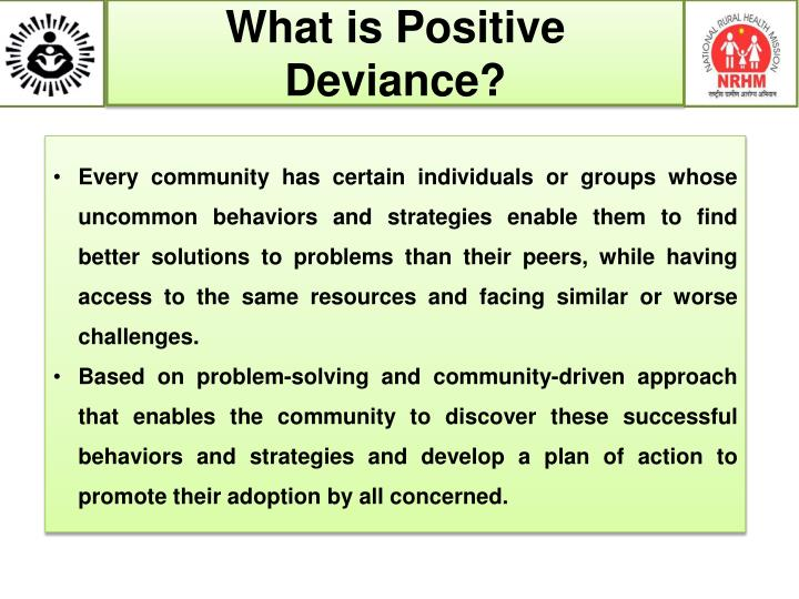 What is Positive Deviance?