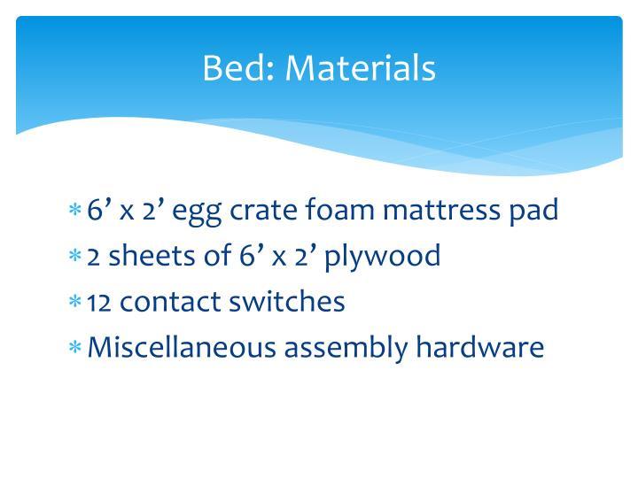 Bed: Materials