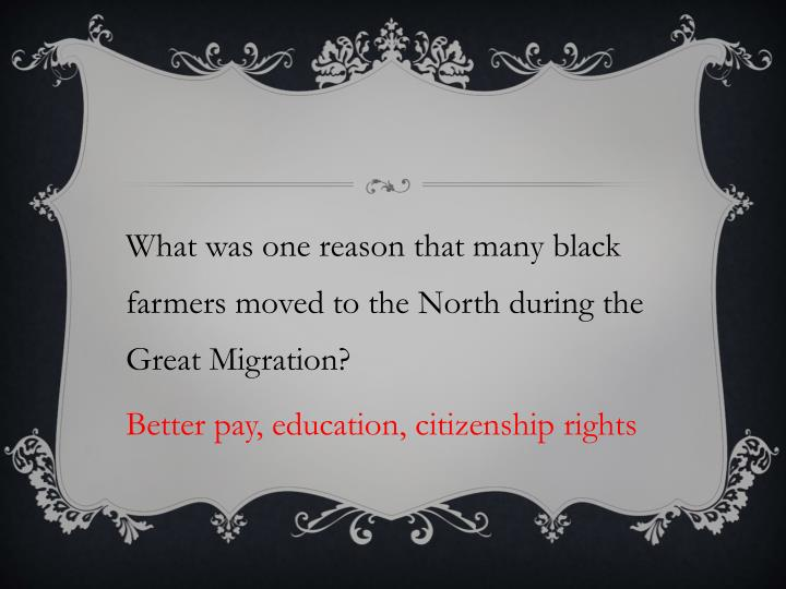 What was one reason that many black farmers moved to the North during the Great Migration