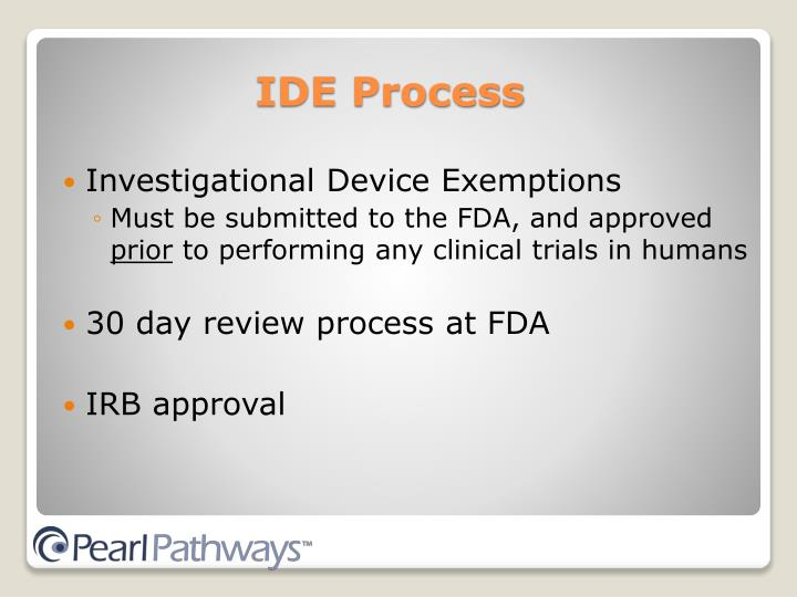 Investigational Device Exemptions