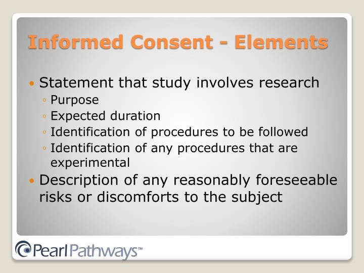 Statement that study involves research
