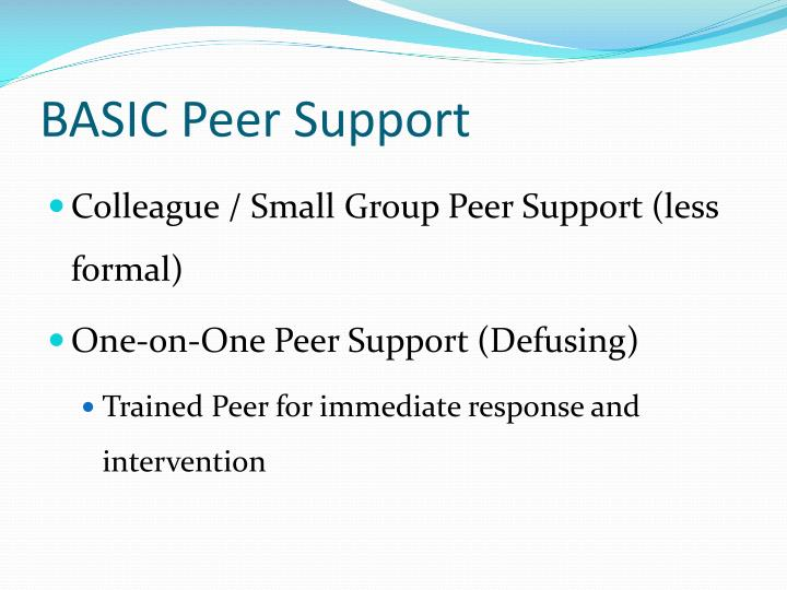 BASIC Peer Support