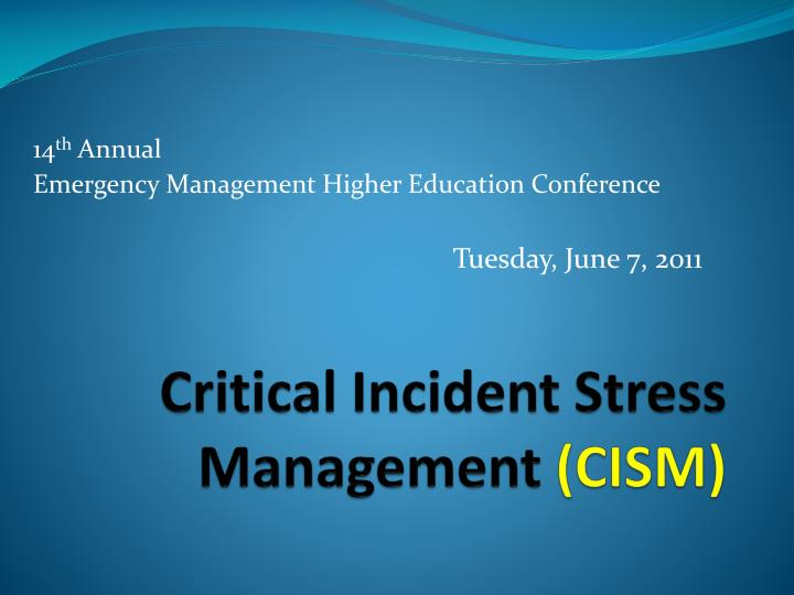 critical incident management of four season
