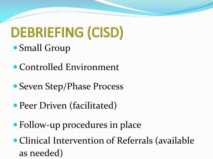 DEBRIEFING (CISD)