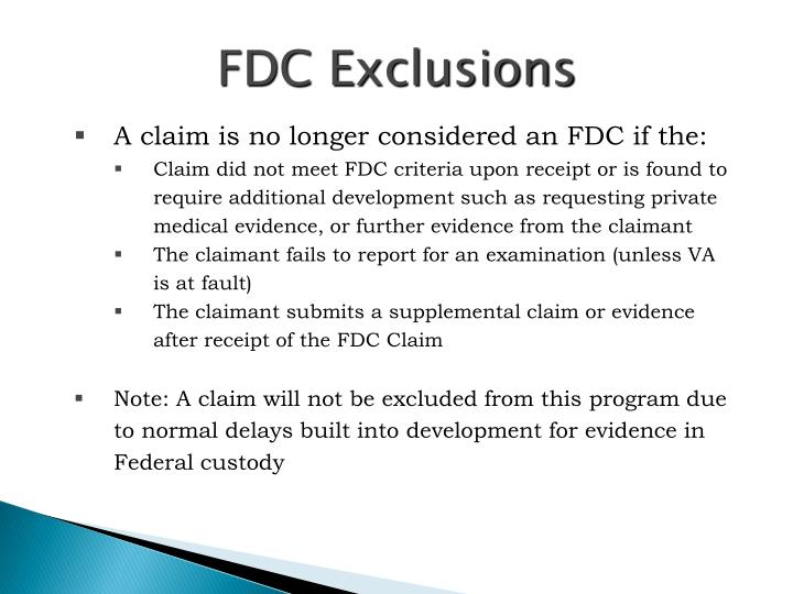 FDC Exclusions