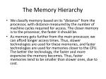 the memory hierarchy2