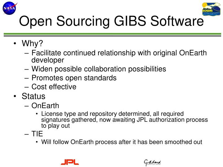 Open Sourcing GIBS Software