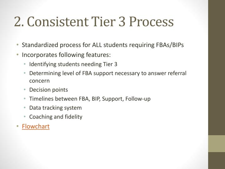 2. Consistent Tier 3 Process