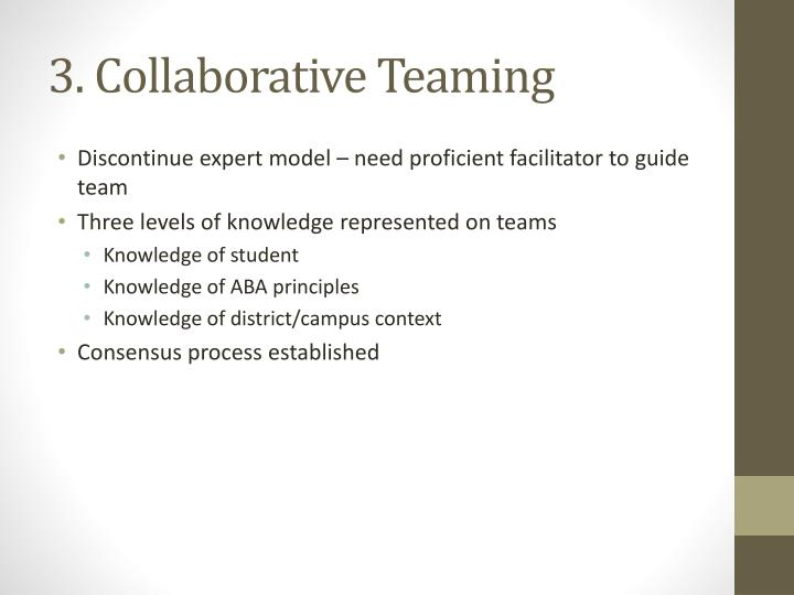 3. Collaborative Teaming