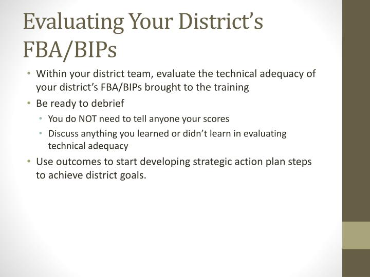 Evaluating Your District's FBA/BIPs