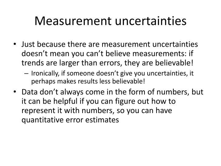 Measurement uncertainties