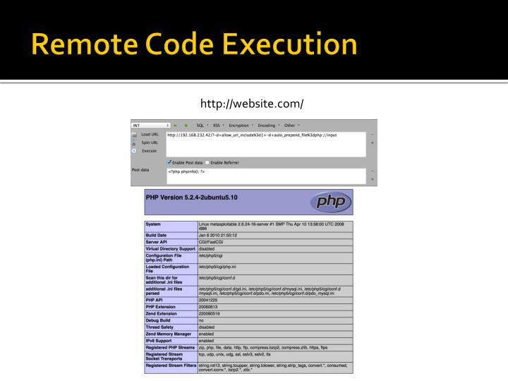 Remote Code Execution