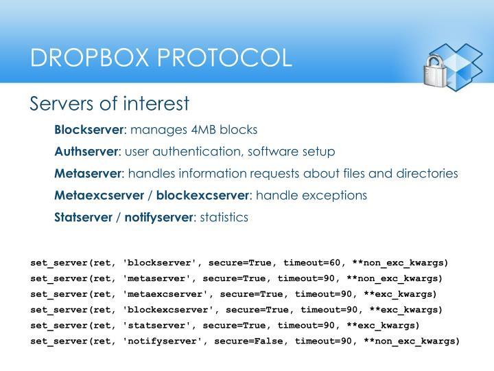 Dropbox protocol