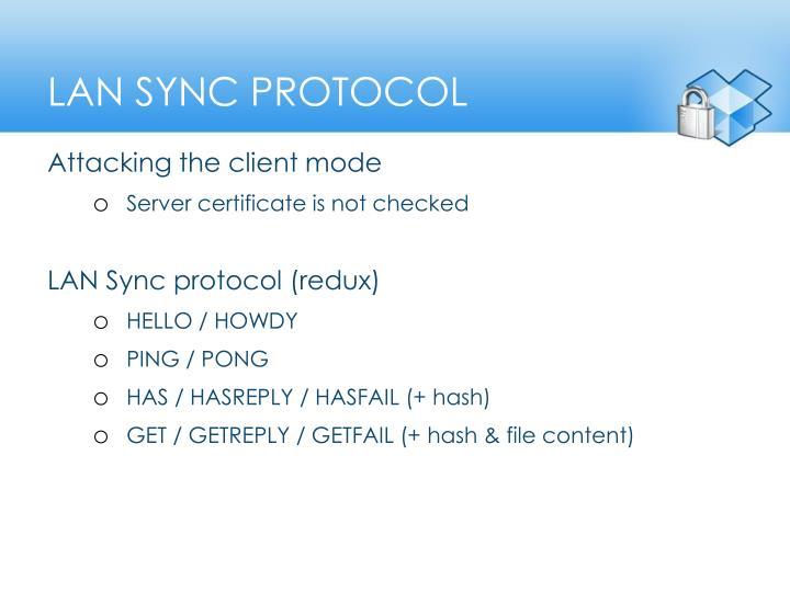 LAN Sync