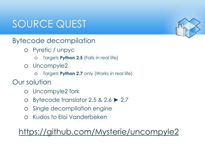 Source quest