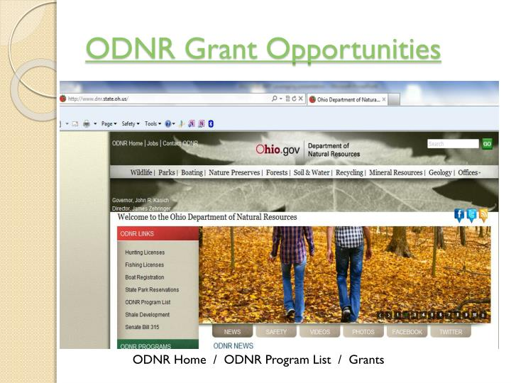 ODNR Grant Opportunities