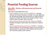 potential funding sources1