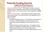 potential funding sources3
