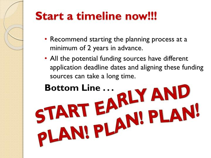 Start a timeline now!!!