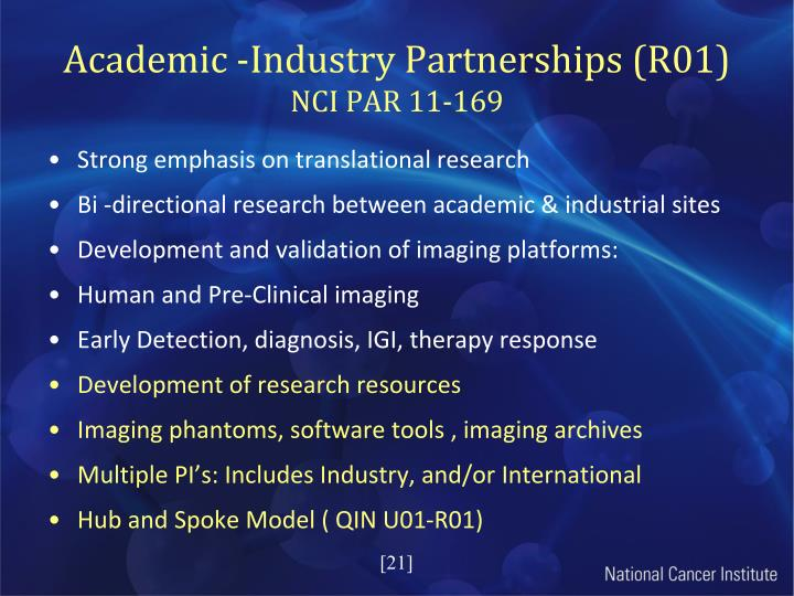 Academic -Industry Partnerships (R01)
