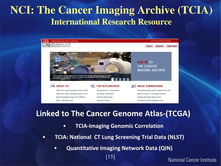 NCI: The Cancer Imaging Archive (TCIA)