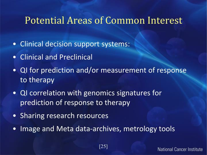 Potential Areas of Common Interest