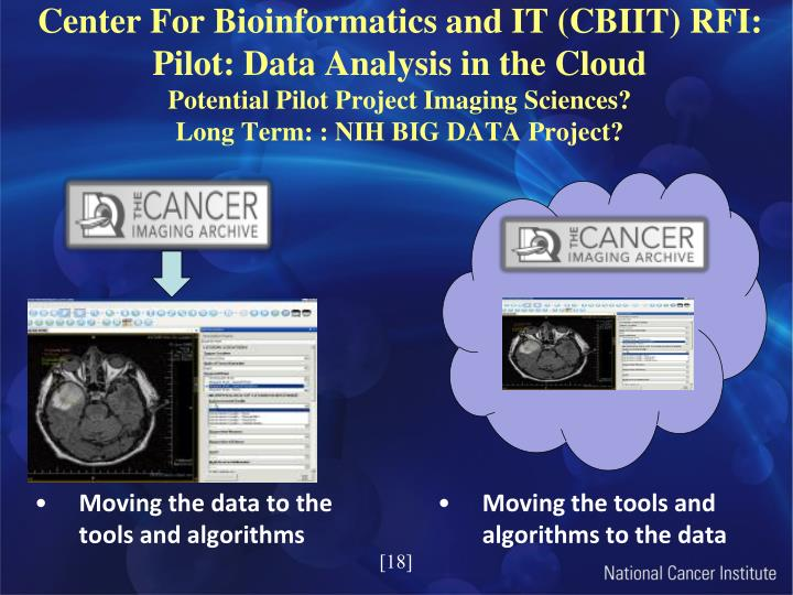 Center For Bioinformatics and IT (CBIIT) RFI: