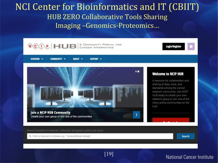 NCI Center for Bioinformatics and IT (CBIIT)