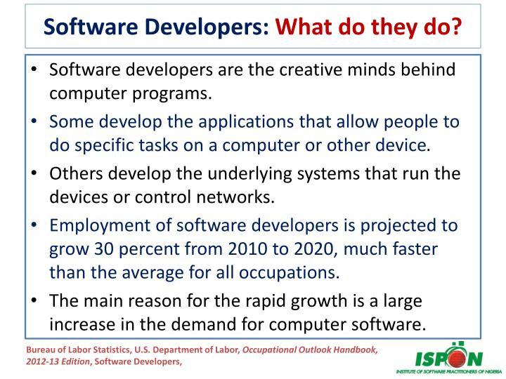 Software Developers: