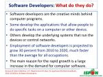 software developers what do they do