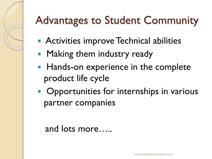 Advantages to Student Community