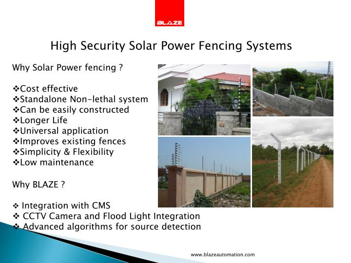 High Security Solar Power Fencing Systems
