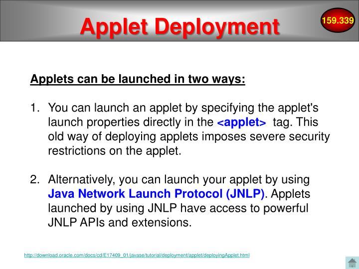 Applet Deployment