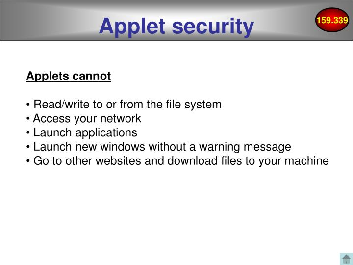 Applet security