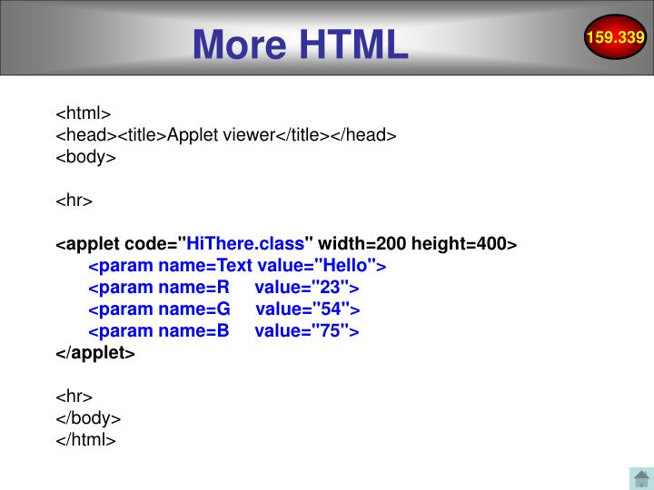 More HTML