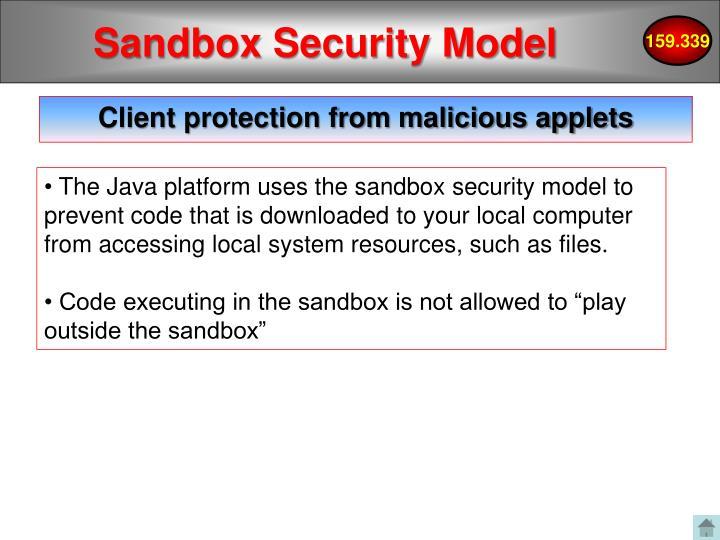 Sandbox Security Model