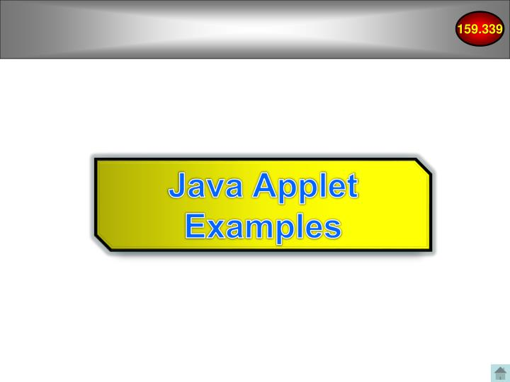Java Applet Examples