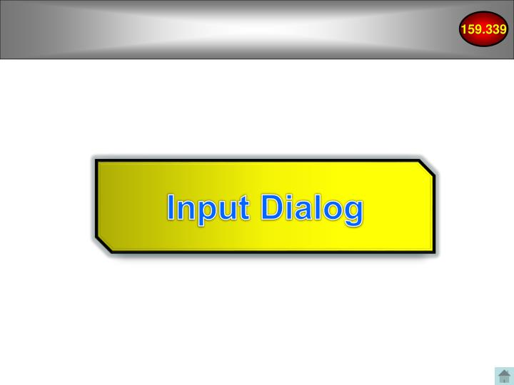 Input Dialog